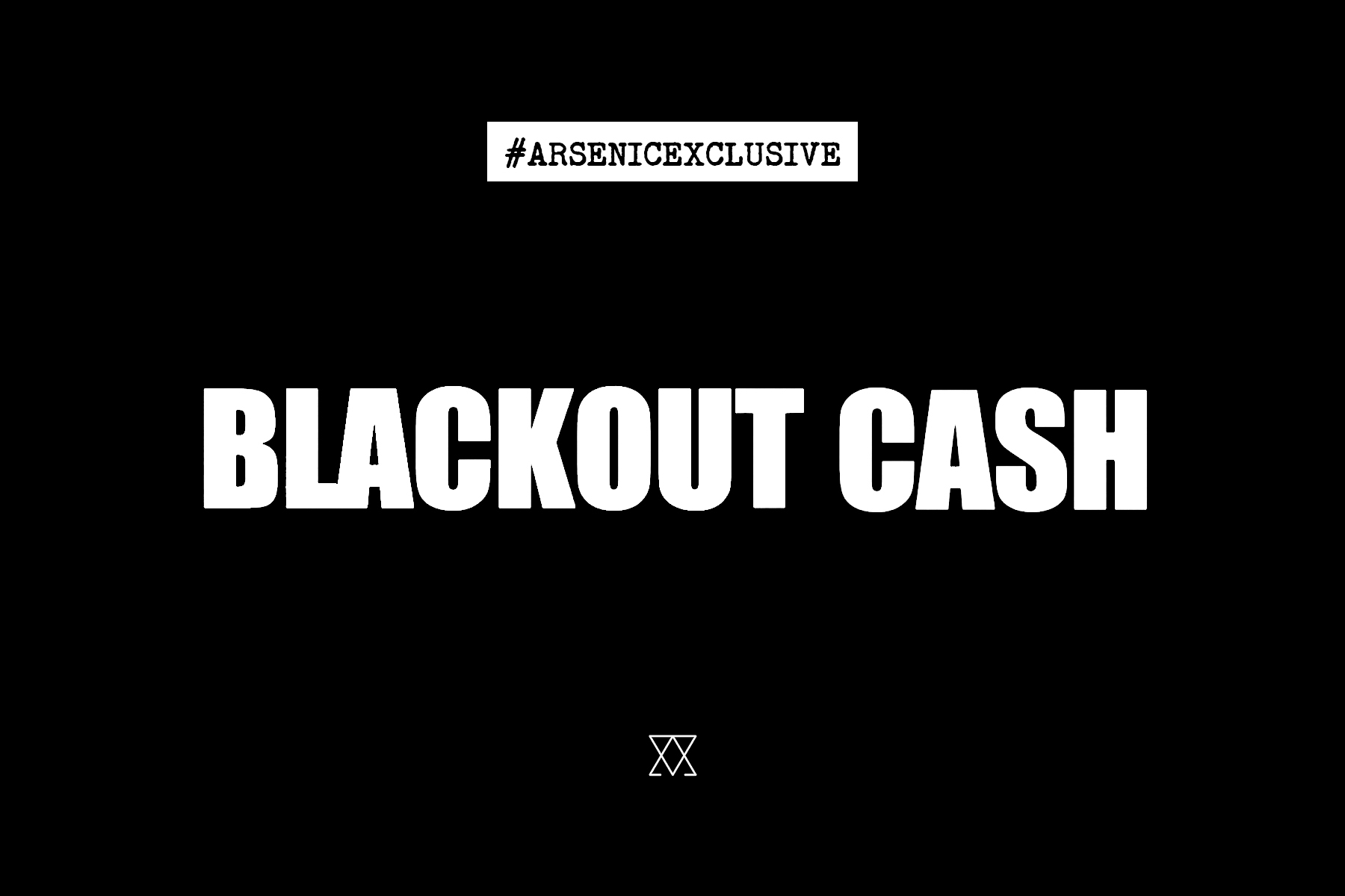 Graphic designed anticipate the release of a music video by Blackout Cash.