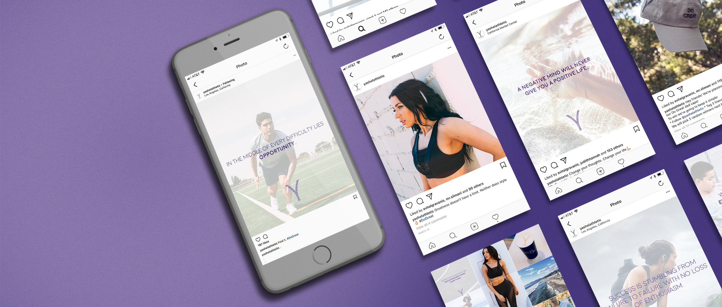 Yashel Athletic - creative direction + social media designs + video/photo production