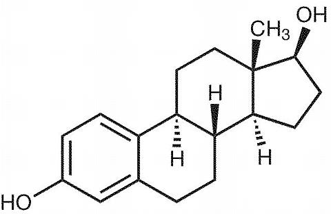 Estradiol chemical structure