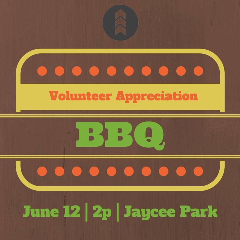 If you have spent any time volunteering in the last year at New Song, come and enjoy our Volunteer Appreciation BBQ. Sunday June 12th at 2 PM at Jaycee Park. There will be food, friends, and lots of fun! This will be a time for us to thank you for your volunteering and contribution to the Church! We hope to see you there! Families and children are welcome.