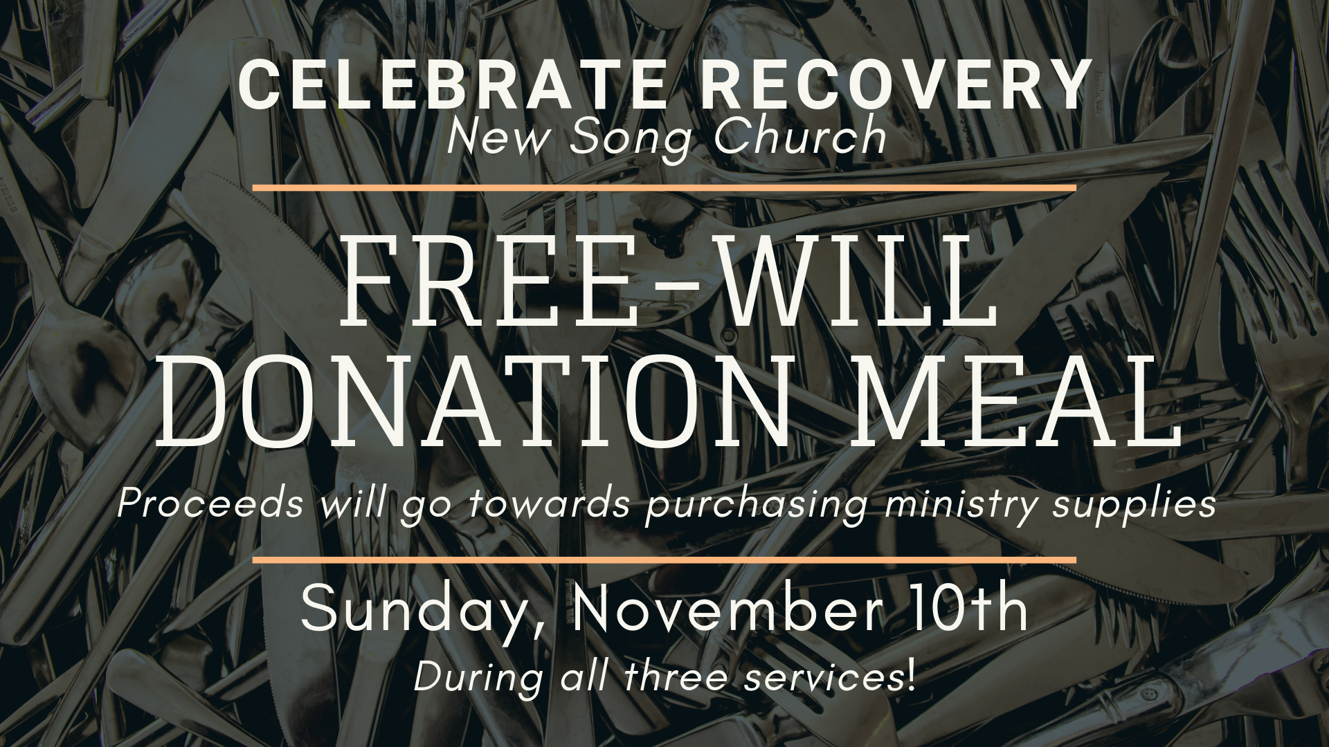 Celebrate Recovery Free-Will Donation Meal [11.10.19] slide.png