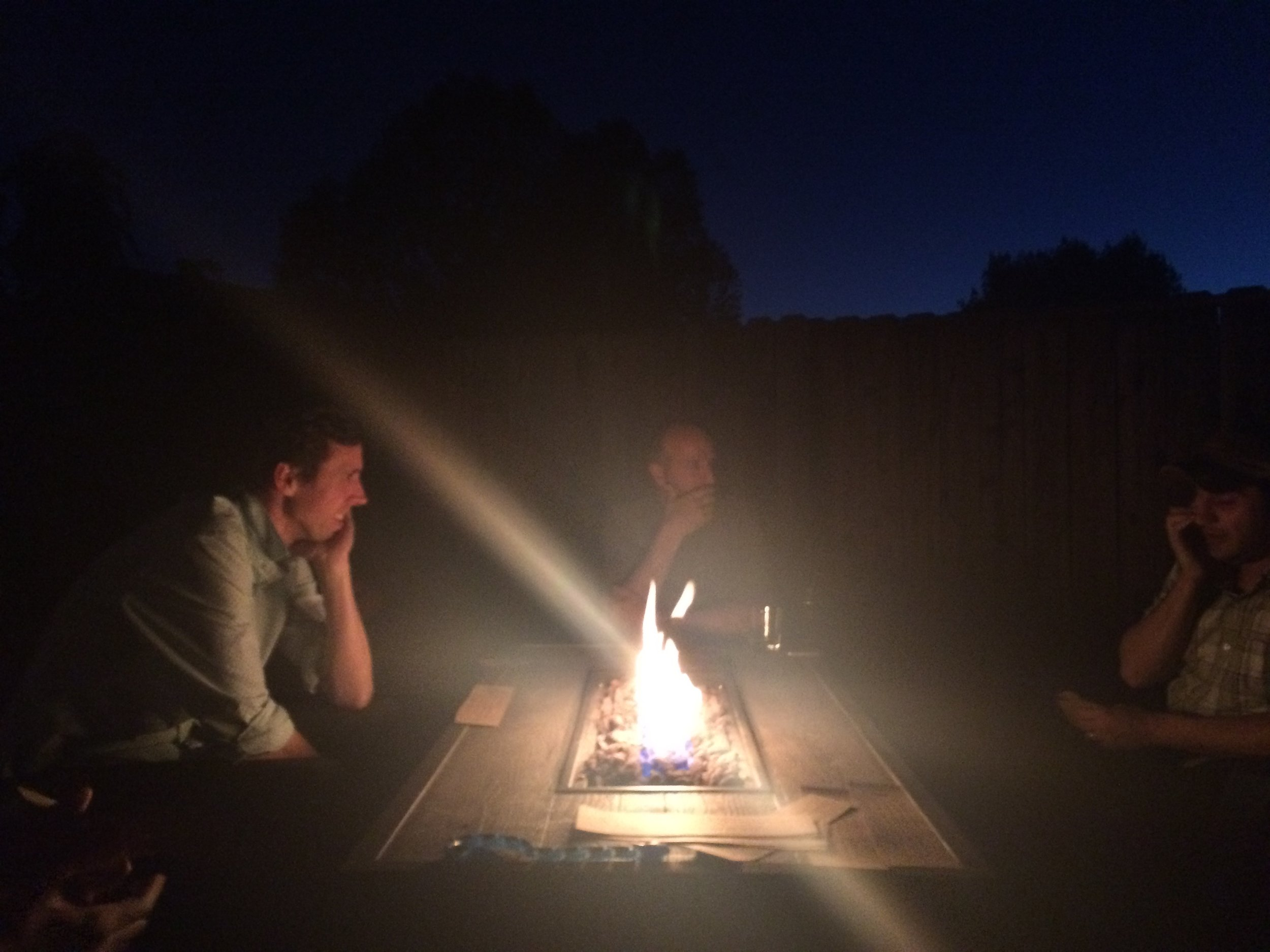 Fire, whiskey, and guys sharing their feelings. #mensconnect  Many thanks to Steve for hosting and creating such a great space!   Invitation:  Join us at the next men's monthly connection point, June 15th, 8pm at the Arnett's