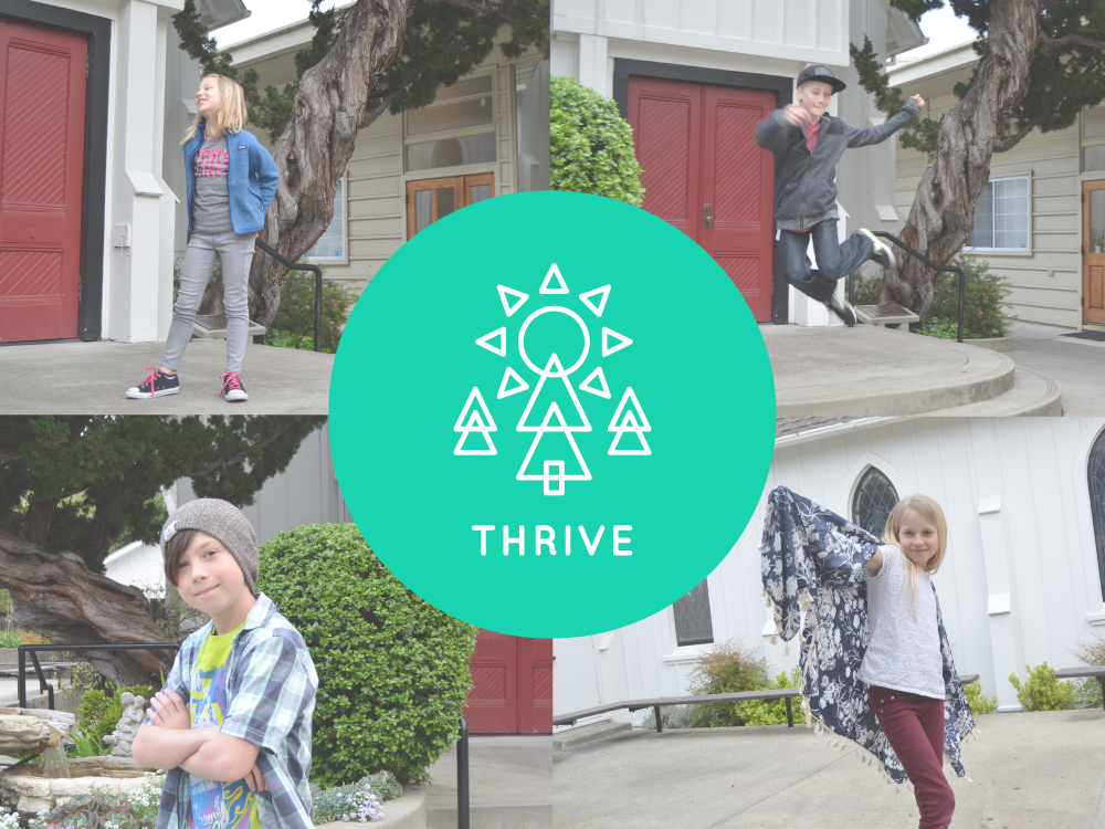 In Thrive, we work to develop tools and practices that will serve kids their whole lives as they strive to follow in the way of Jesus. We use scriptures, in-depth Bible studies, practices and worship. The Thrive Class also serves and leads the Tru Class by serving snacks, engaging in guided conversations, and leading crafts and musical worship.