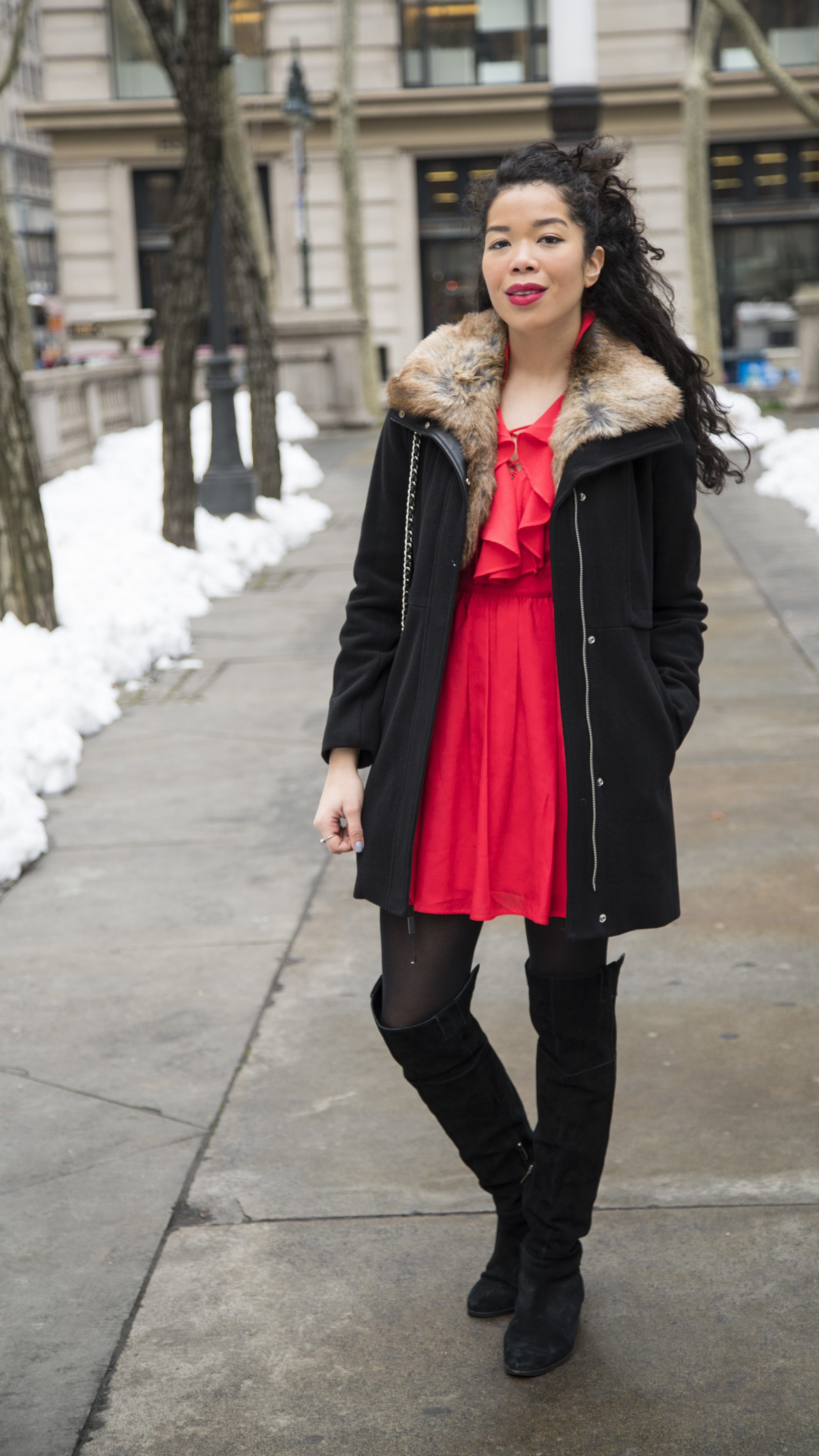 express_red_flare_dress_outfit_ideas.jpg