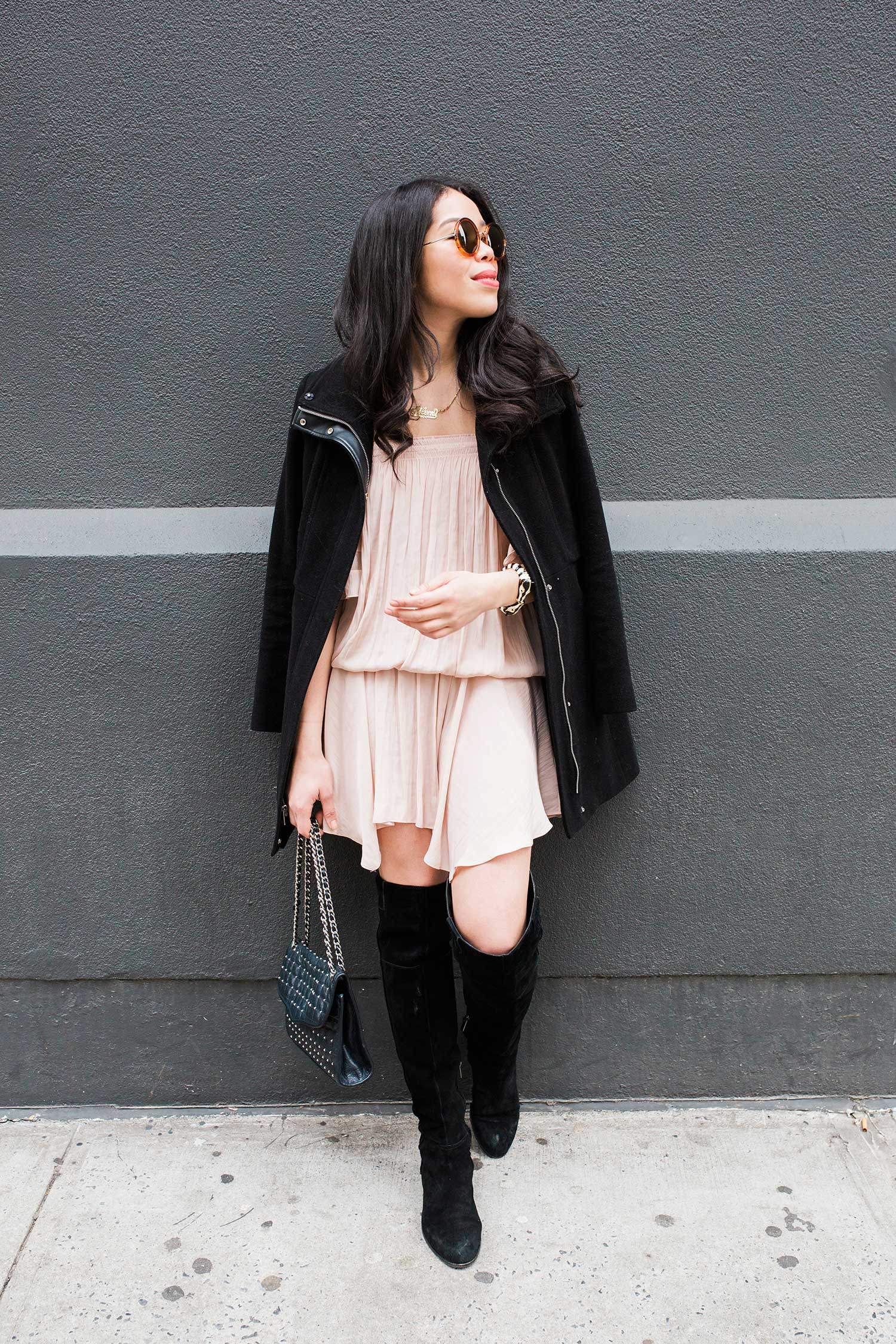 how-to-wear-pale-pink-dress.jpg