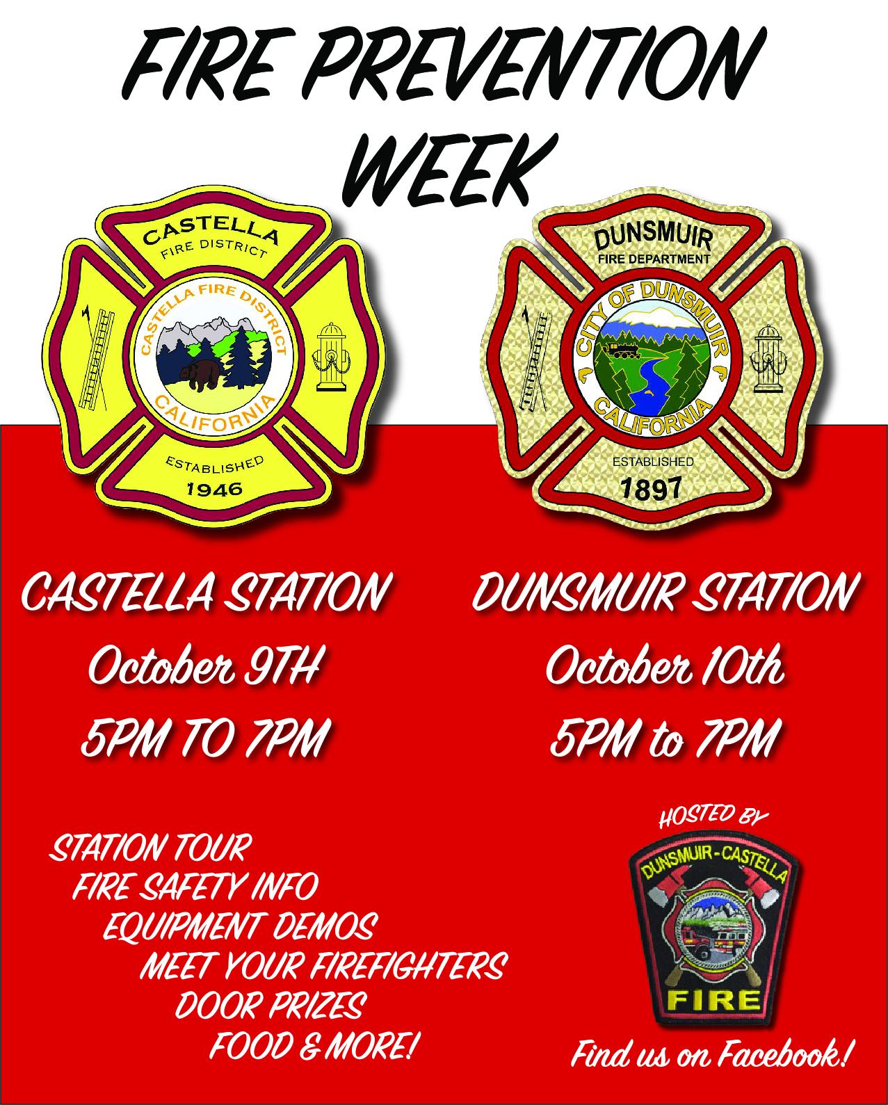fire prevention week flier