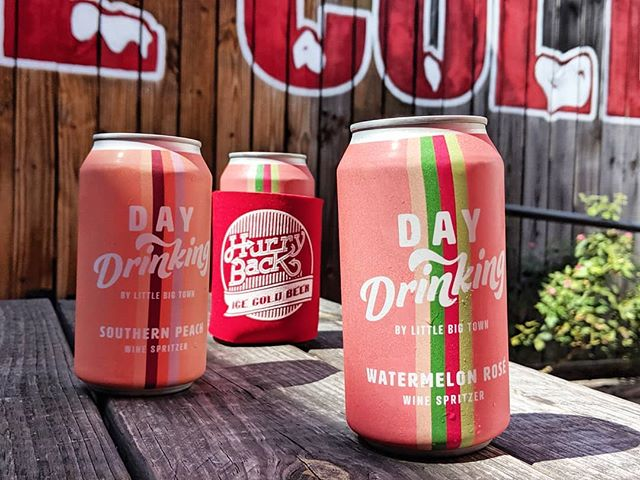Summer may almost be over, but it's never too late for a little @daydrinkingwine. Enjoy your Labor Day with a delicious wine spritzer, made by @littlebigtown. We are open at 4! 🥂☀️