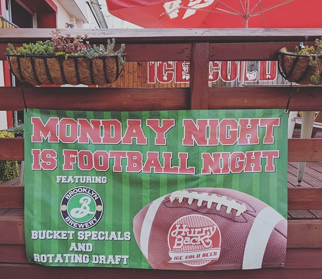 Mondays are for football at HB! Join us Mondays this fall for @brooklynbrewery specials, food specials + football on the big screen! 🏈🍻