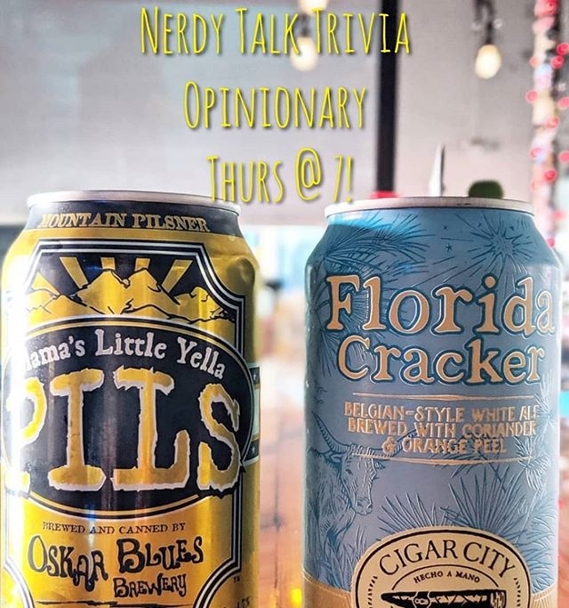 Join us for @nerdytalktrivia Opinionary tonight at 7 for @oskarblues specials, food specials + your chance to win prizes! 🍻
