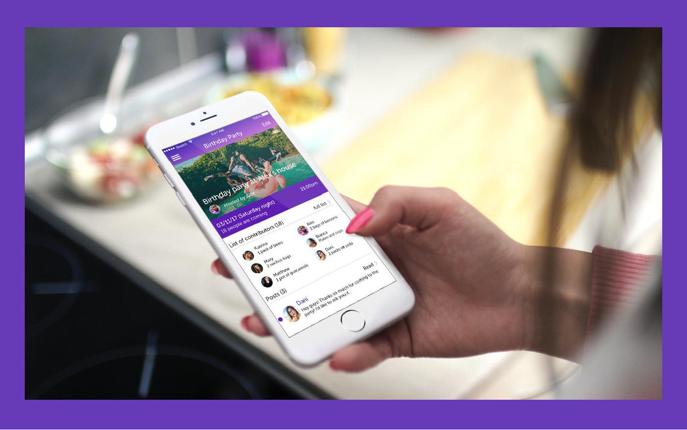 Potluck Party Planner App - UX/UI Design // Motion Design