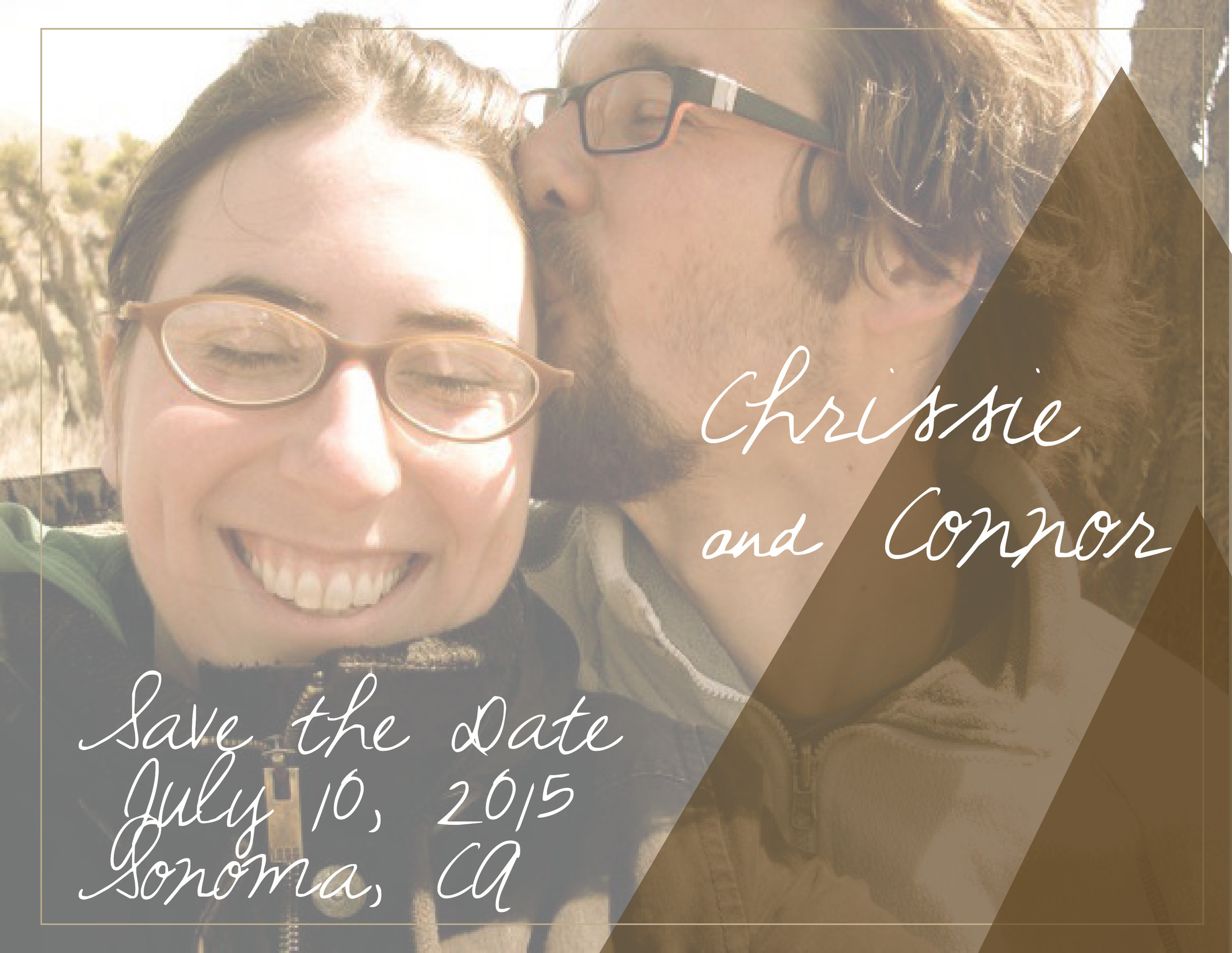 Save the Date card for C+C Wedding, 2014