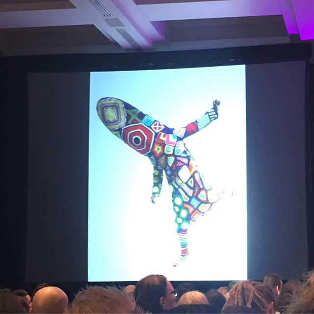 """FREAKING OUT listening to the wisdom of Nick Cave  #naea2018 - """"How can I create work that helps us collectively move forward and do what we need to do to make a difference."""" 👊🏾💛🎨"""