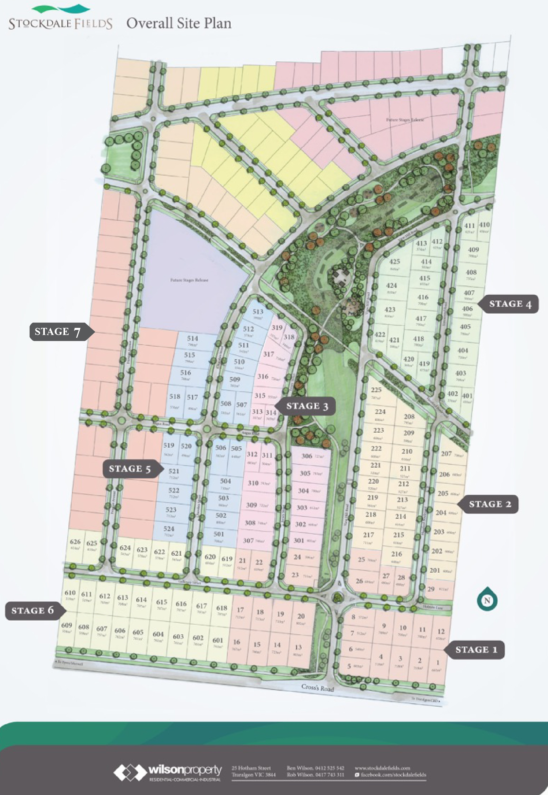 **PLEASE NOTE : There are changes to the overall plan & the final Plan of Subdivision in Stage 7. Refer to separate Stage to see final plan.