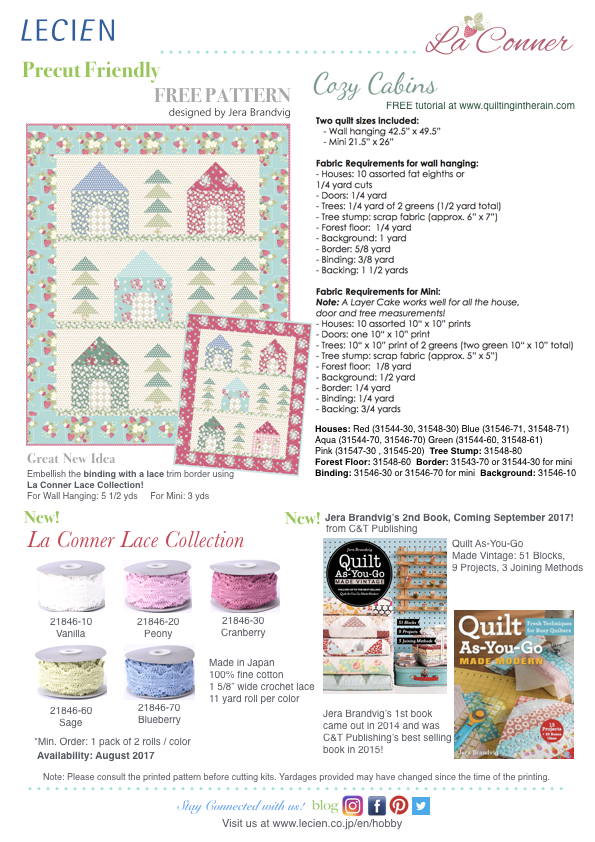 La Conner Collection by Jera Brandvig - Free Pattern, La Conner Lace Collection, and Jera Brandvig's Book information.