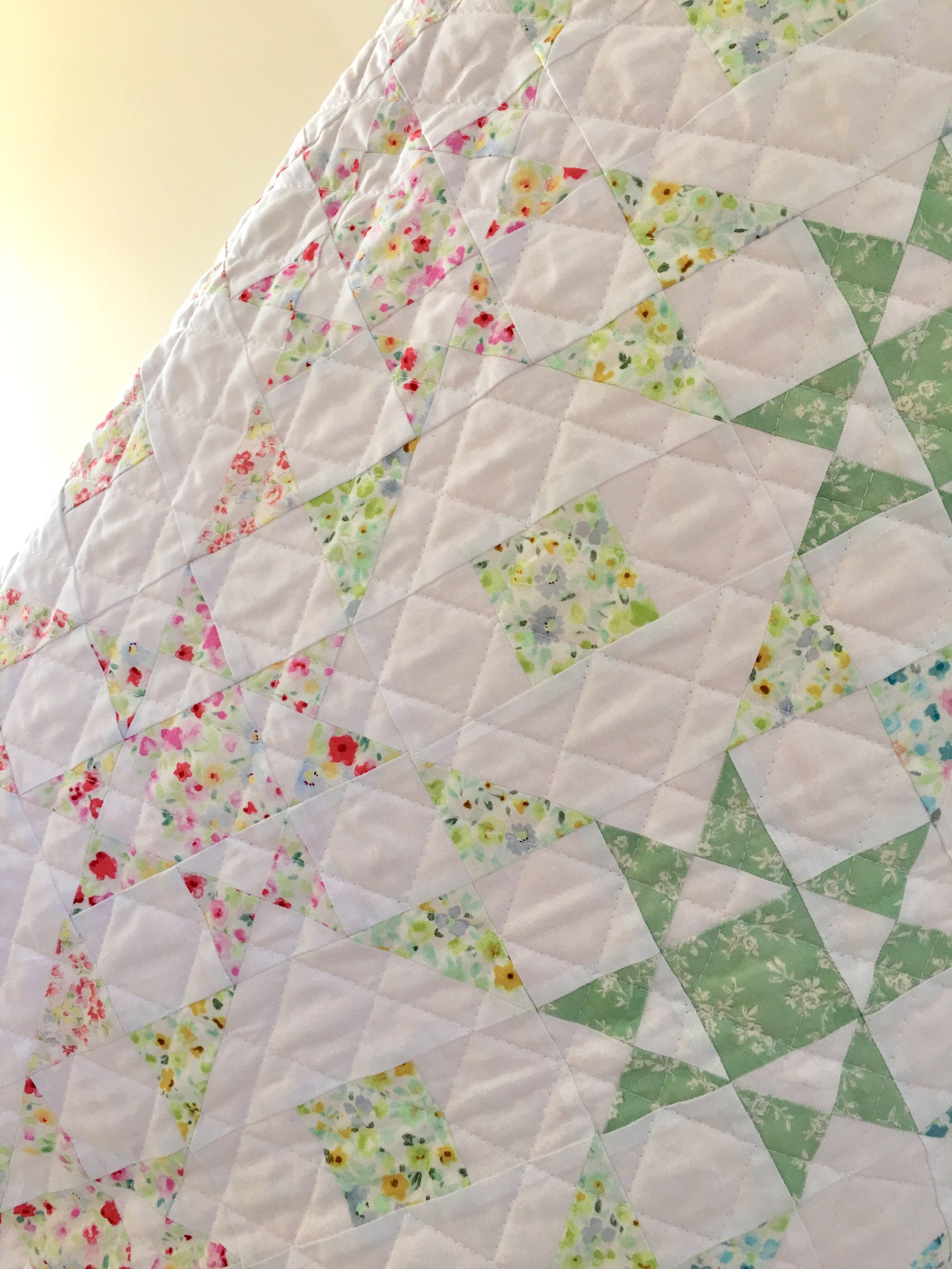 "Beautiful ""Flower Fields"" Quilt designed and created by Lynne Goldsworthy"