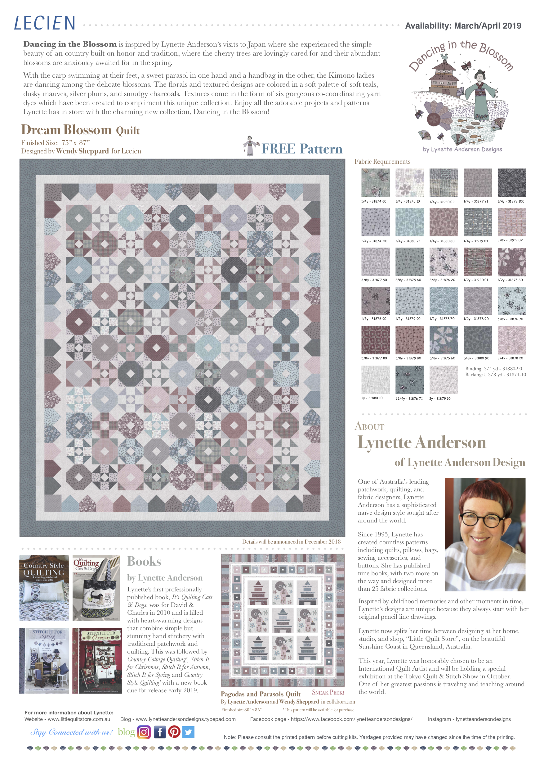 Dream Blossom Quilt featuring Dancing in the Blossom Collection