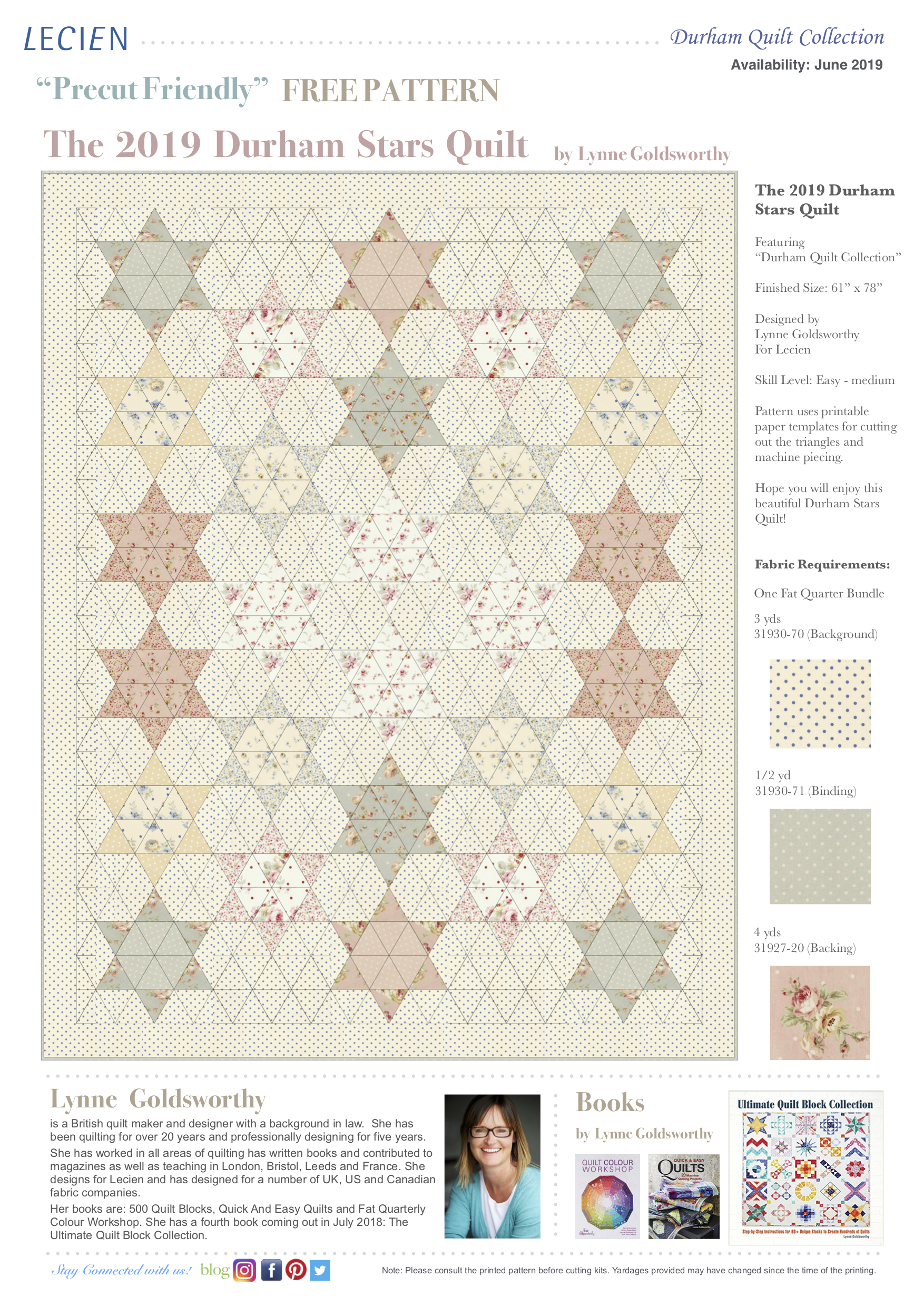FREE Patterns — Lecien Fabrics