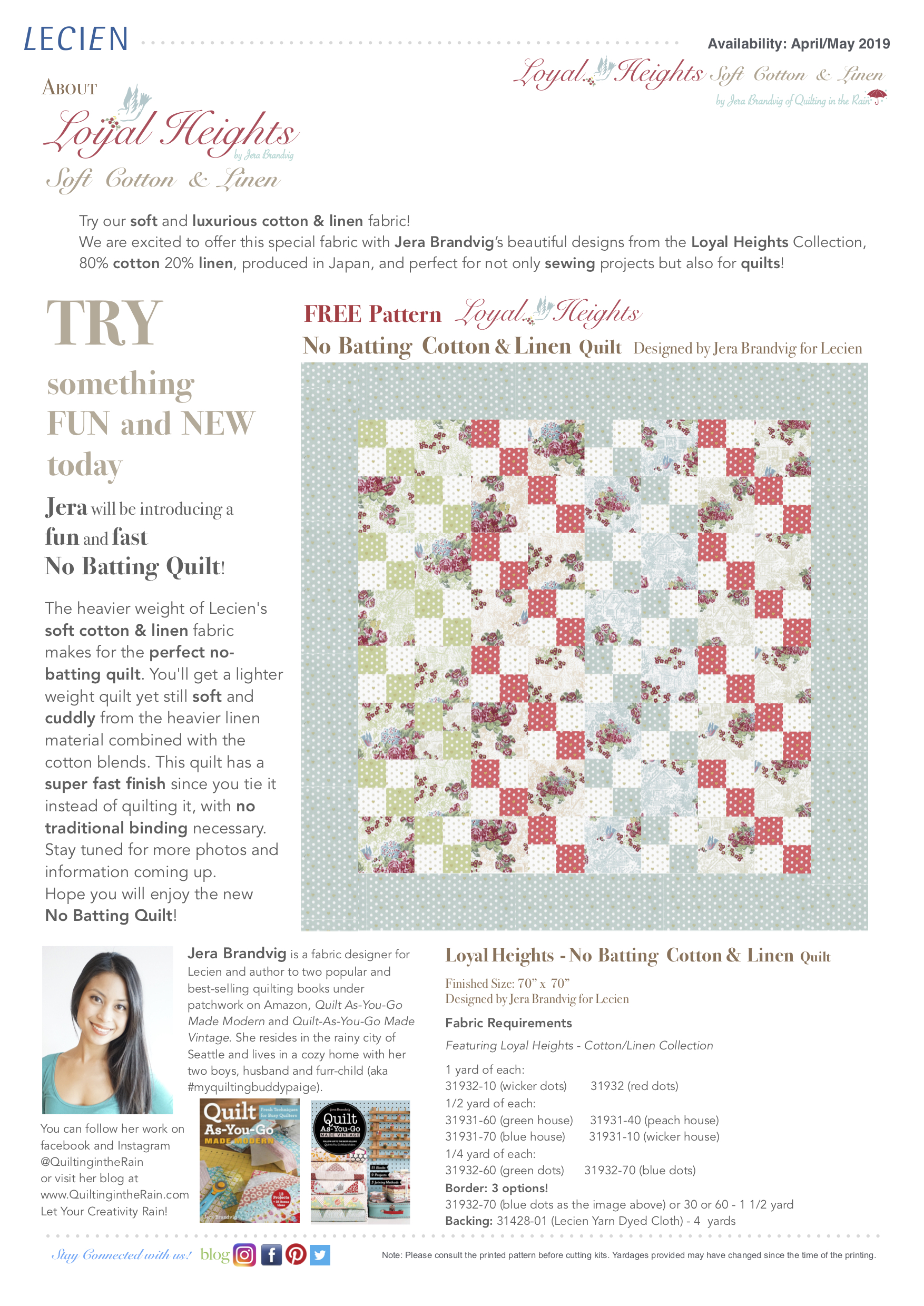 Loyal Heights - No Batting Cotton & Linen Quilt