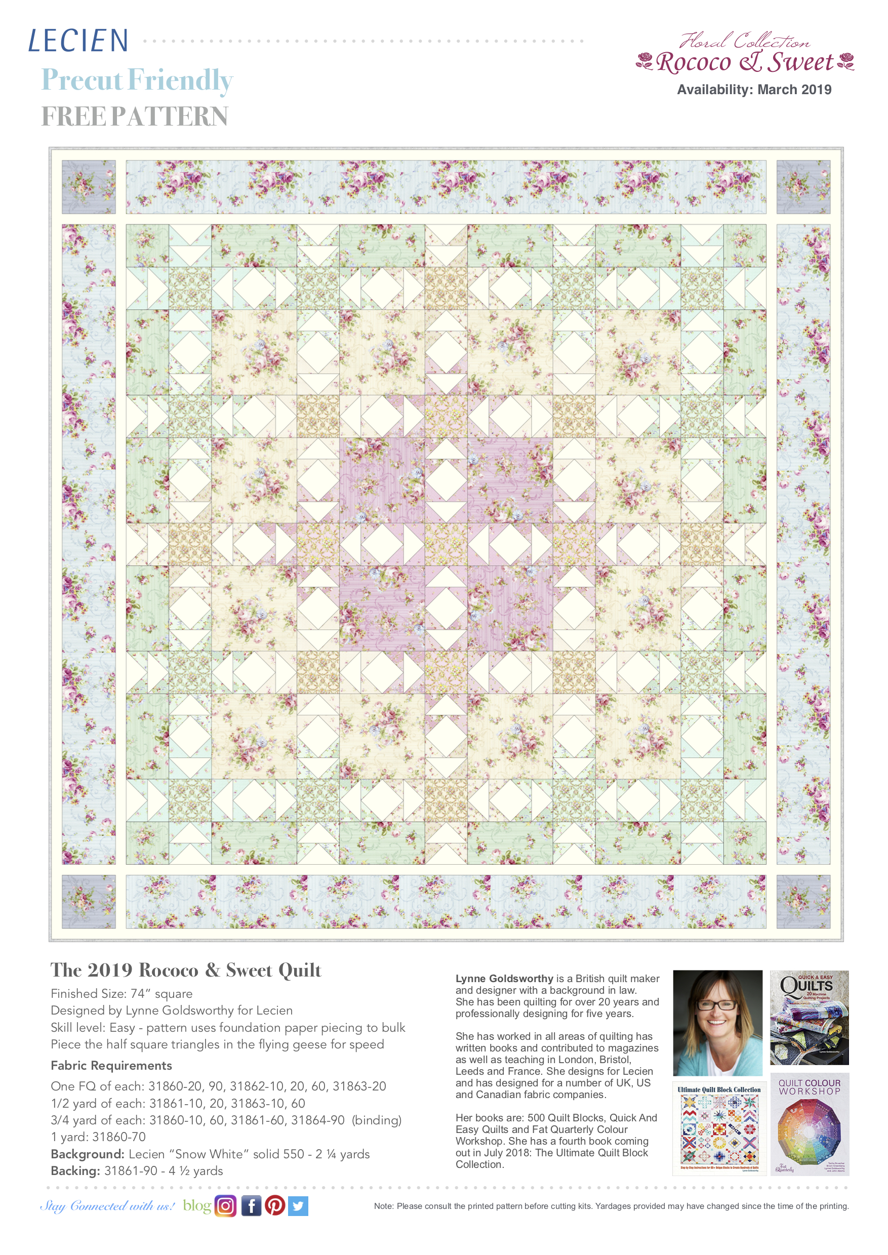 The 2019 Rococo & Sweet Quilt
