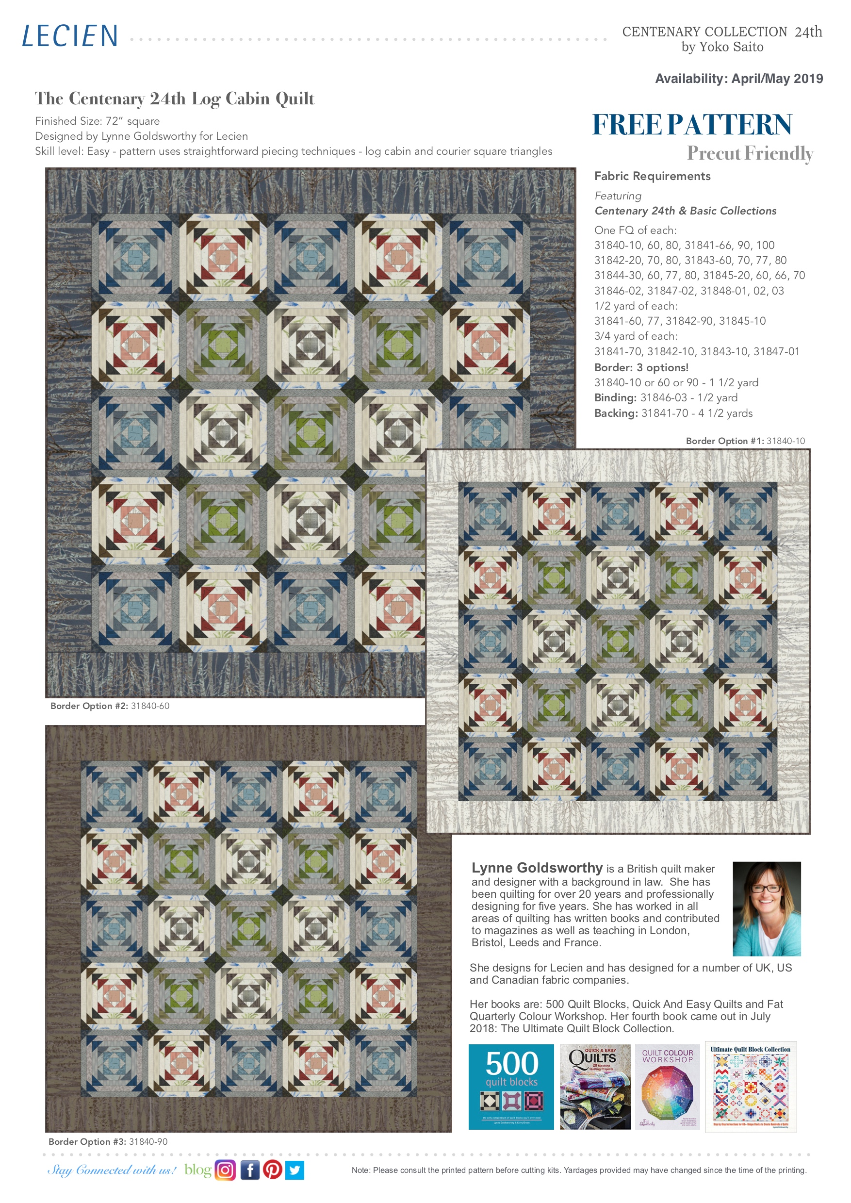The Centenary 24th Log Cabin Quilt