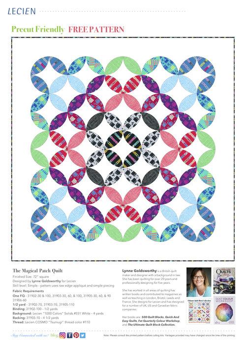 Moda Christmas Fabric 2019.Free Patterns Lecien Fabrics