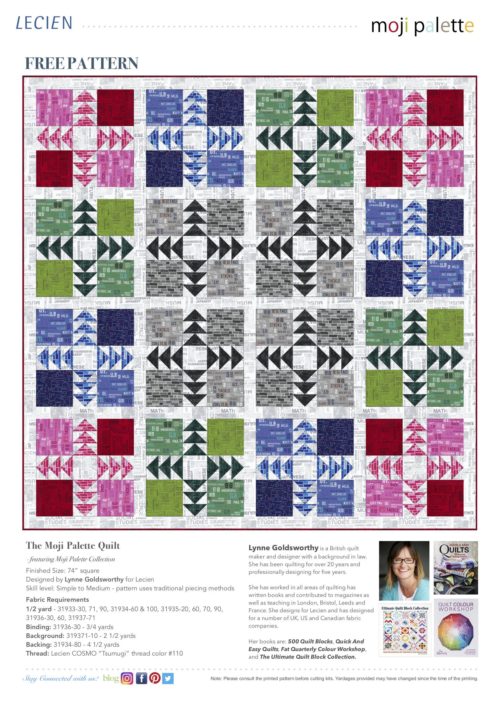 The Moji Palette Quilt