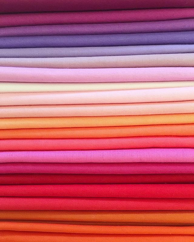 "🧡💗💜 Happy Tuesday! 💜💖🧡 Let's make something gorgeous with ""1000 Colors Solids"" collection! All of our solids fabrics are produced in Japan and are kept consistent in color and quality, and it's fun to work with! Are you interested in carrying our solid or/and other pretty fabrics? Please contact our distributor: @checkerdistributors @eeschenck in the U.S. and visit www.lecienfabrics.com for the complete list of our worldwide distributors. Thank you! ❤️💗💜💙💚💛 🌈🌈🌈 #gorgeous #beautiful #happy #happyfabric  #1000colorssolids  #LecienSolids  #Lecien  #lecienfabrics  #Lecien_Fabrics #quilt #fabrics #colors #ルシアン#キルト #thankyou #quilt #quilting #colorful"