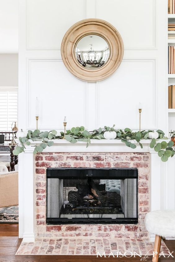 `Dollar Eucalyptus on a Mantel.  Photo from maisondepax.com