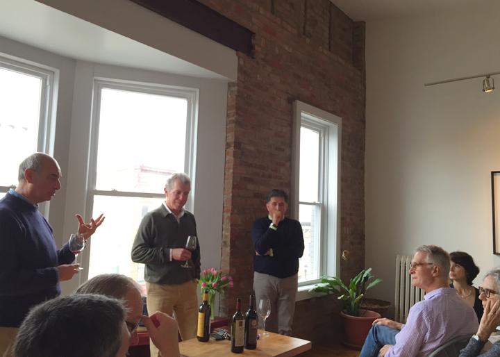 Sicilian Vintner Gaetano Gargano, wine importer and distributer Neal Rosenthal, and Umbrian winemaker Giampiero Bea