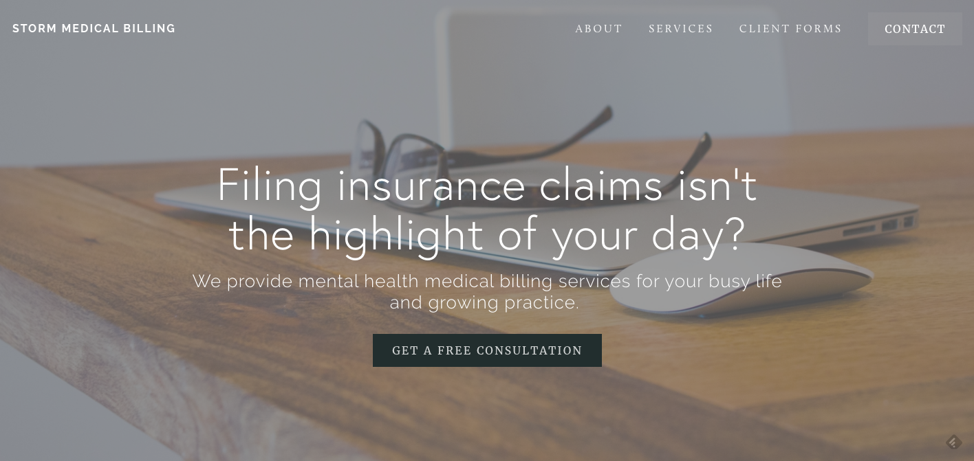 Mental Health Website Design Squarespace