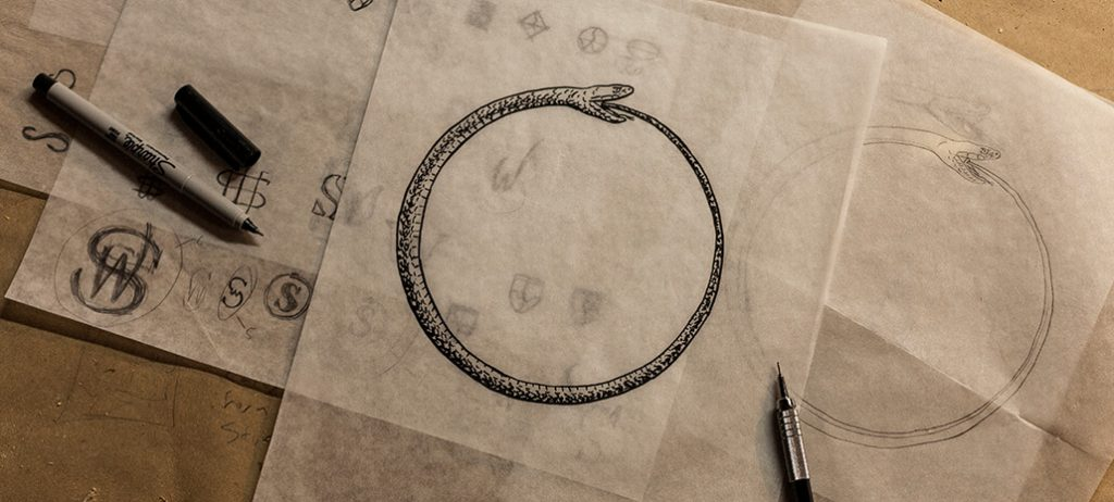 The original illustration behind Mary's logo. Designed by Tim Delger of Studio Delger.
