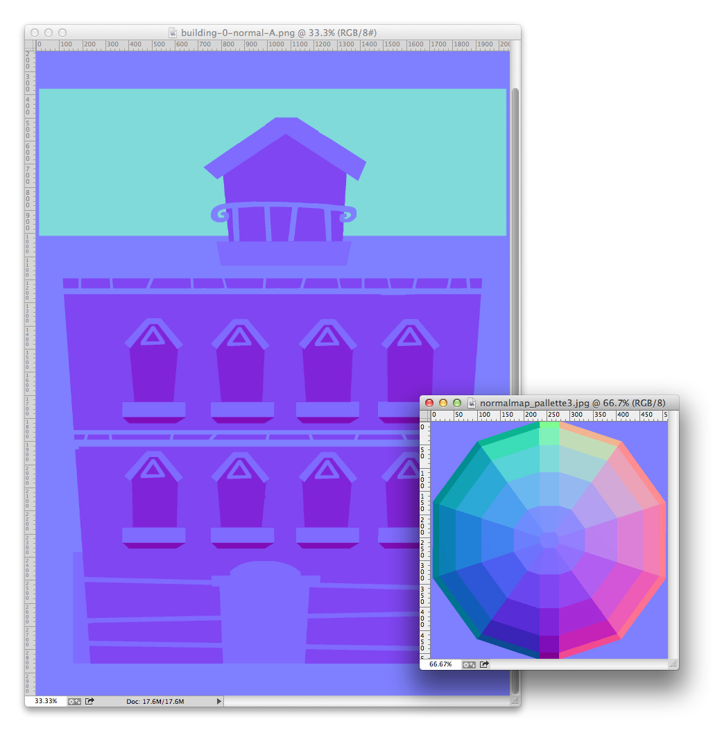 Manually drawing a normal map in PhotoShop