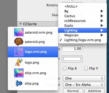 Setting a normal map in SpriteBuilder