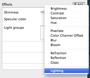 Adding a lighting effect
