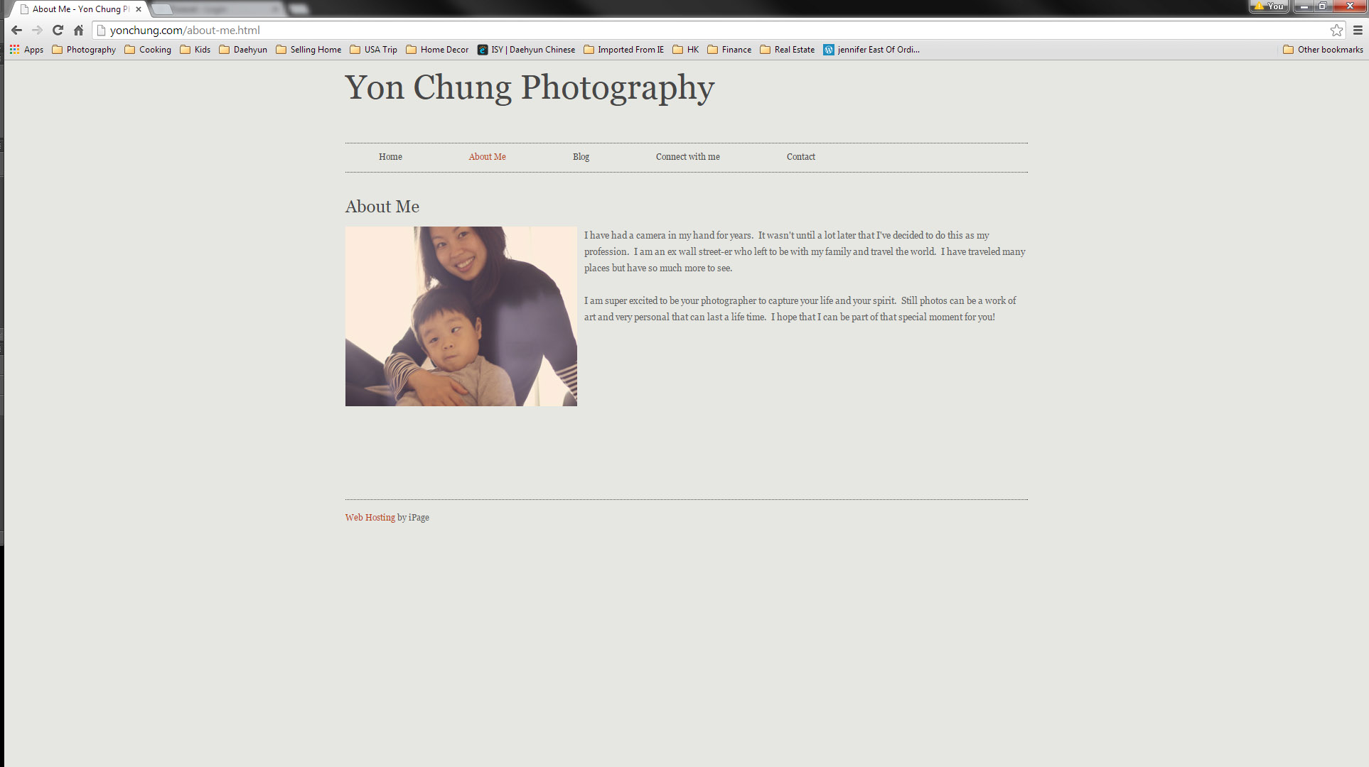 Oh gosh.. The only thing awesome about the old website is the picture of me and my son. I