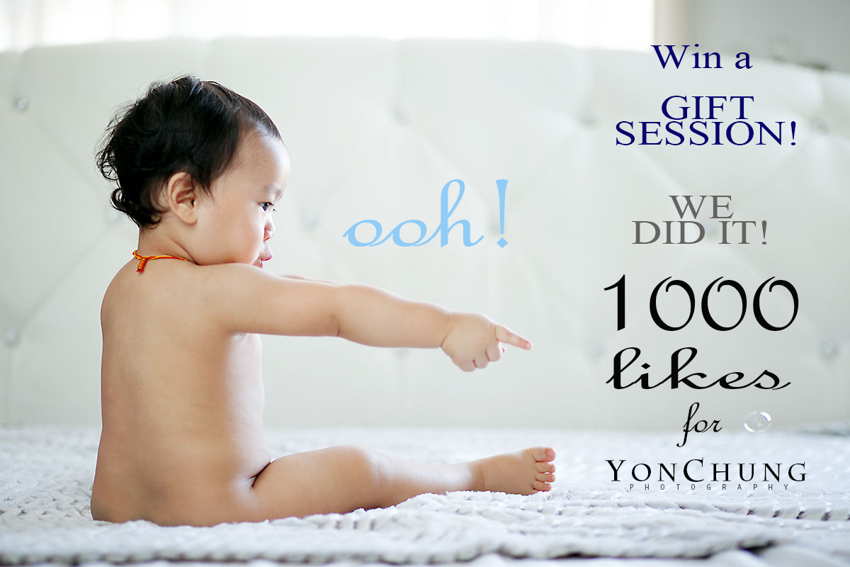 Yon Chung Photography Facebook FB Photo session Giveaway 1000 milestone