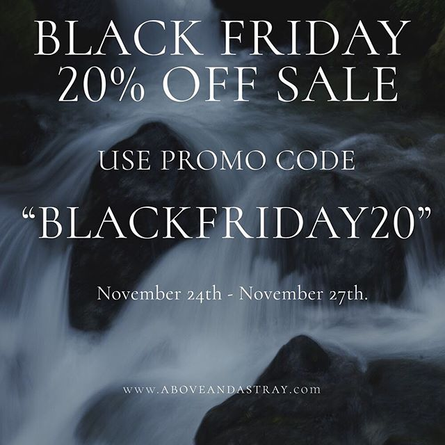 Hi friends, treat yourself to a shirt or two with our Black Friday sale. Promo code goes life November 24th! #blackfriday #sale #aboveandastray