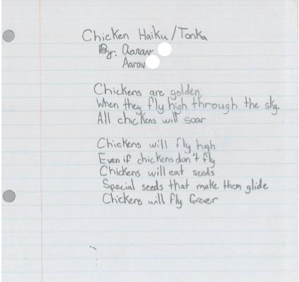 Chicken Haiku by Aarav