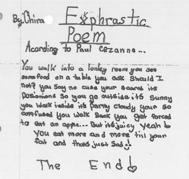 Exphrastic Poem by Chira