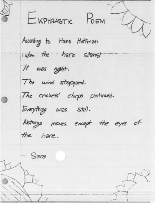 According to Hoffman by Sara