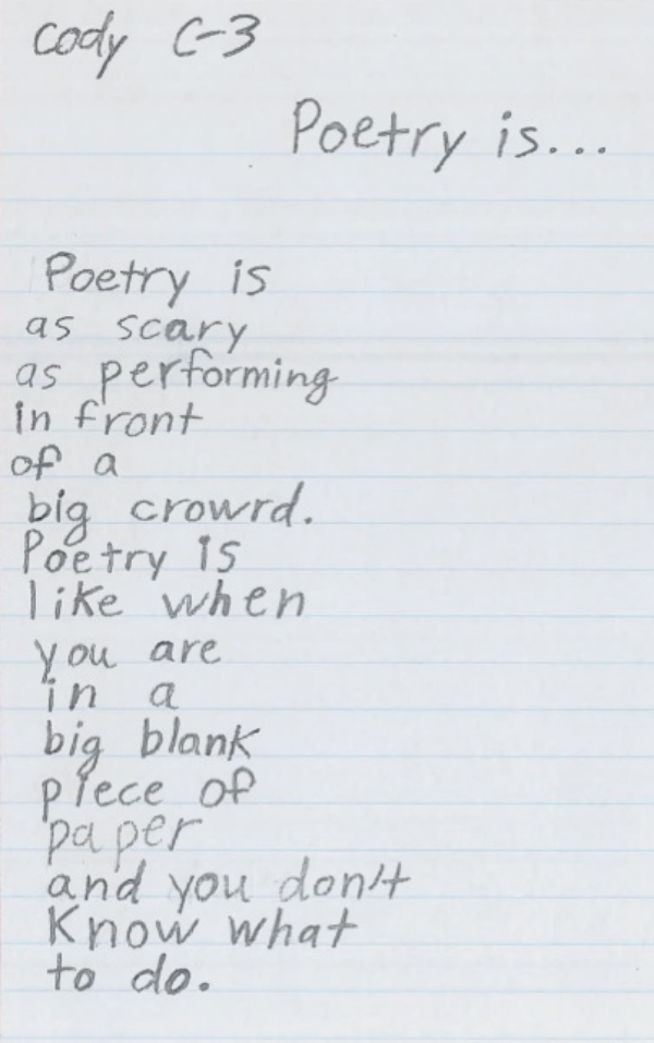 Poetry Is by Cody