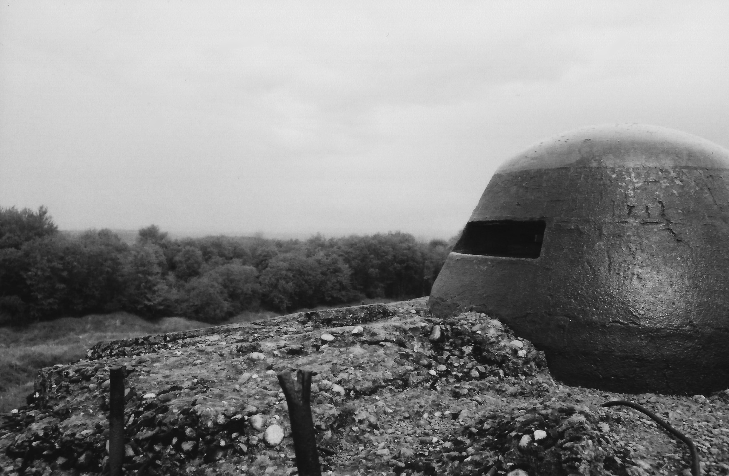 One of the observation domes on Fort du Douaumont near Verdun.