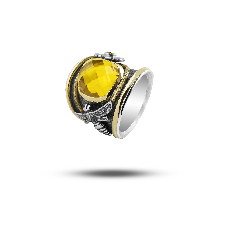 Yellow Gold, Silver & Citrine  POA
