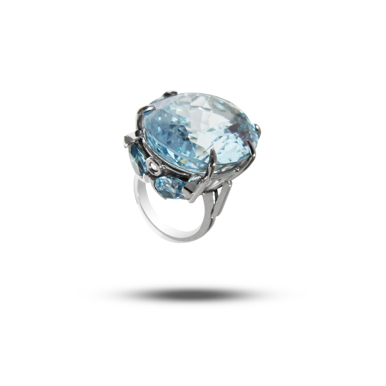Palladium, Aquamarine & Diamond  POA