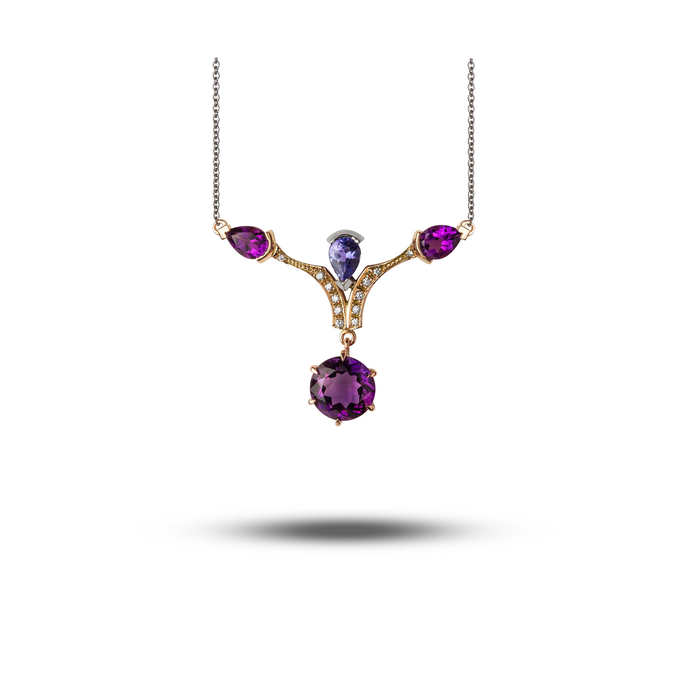 Rose Gold, Diamond, Amethyst & Tanzanite  £2400