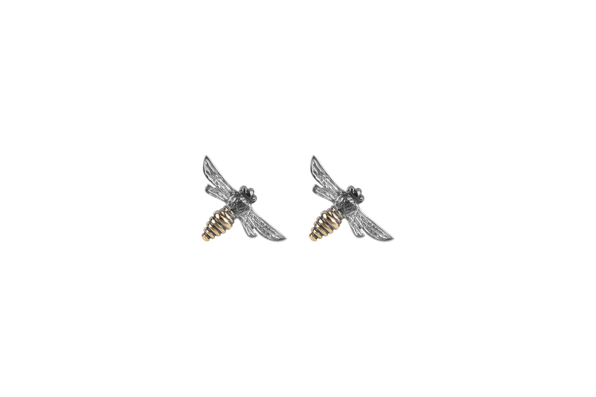 Yellow Gold Bee Studs  £300
