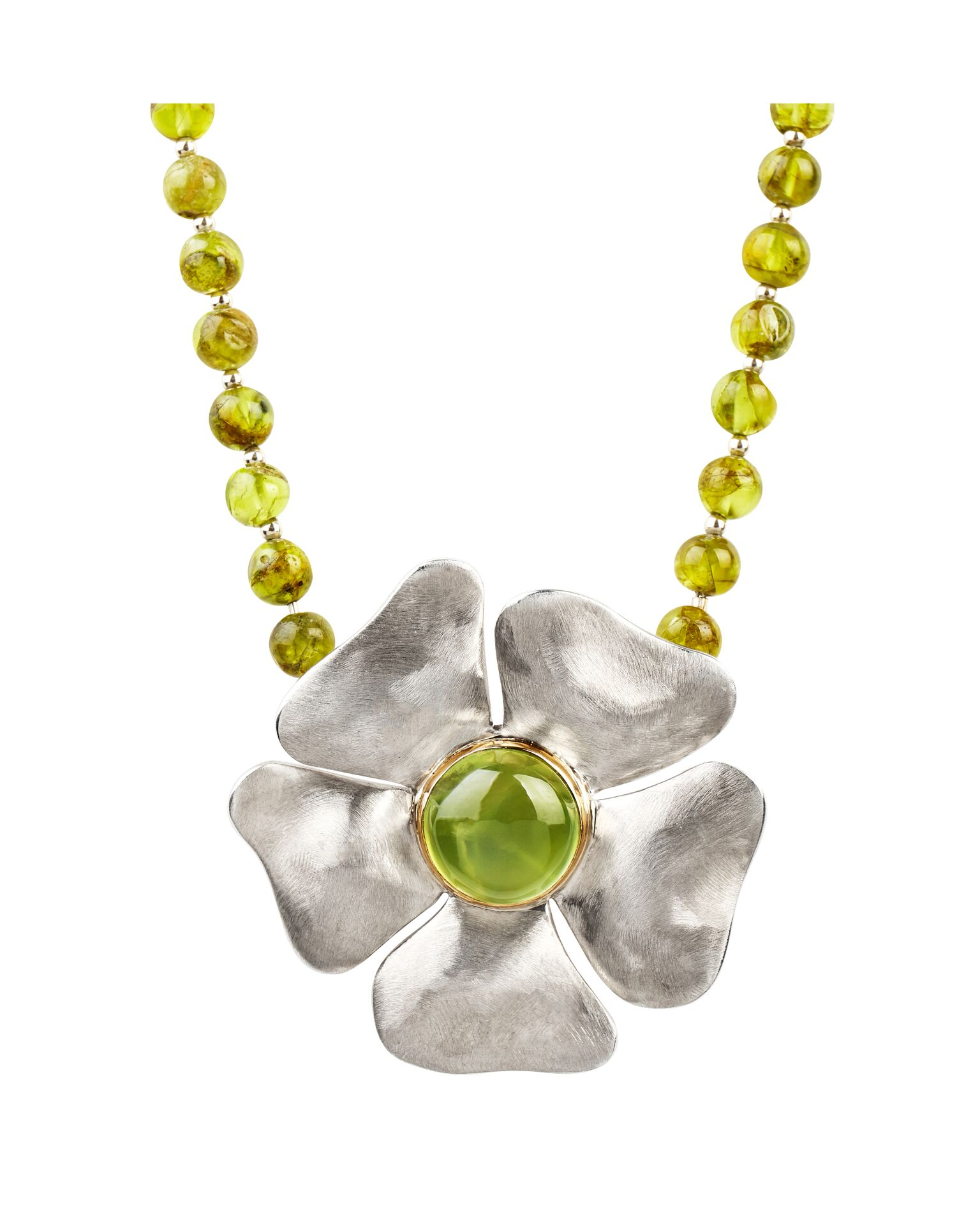 Yellow Gold, Silver and Peridot  £695