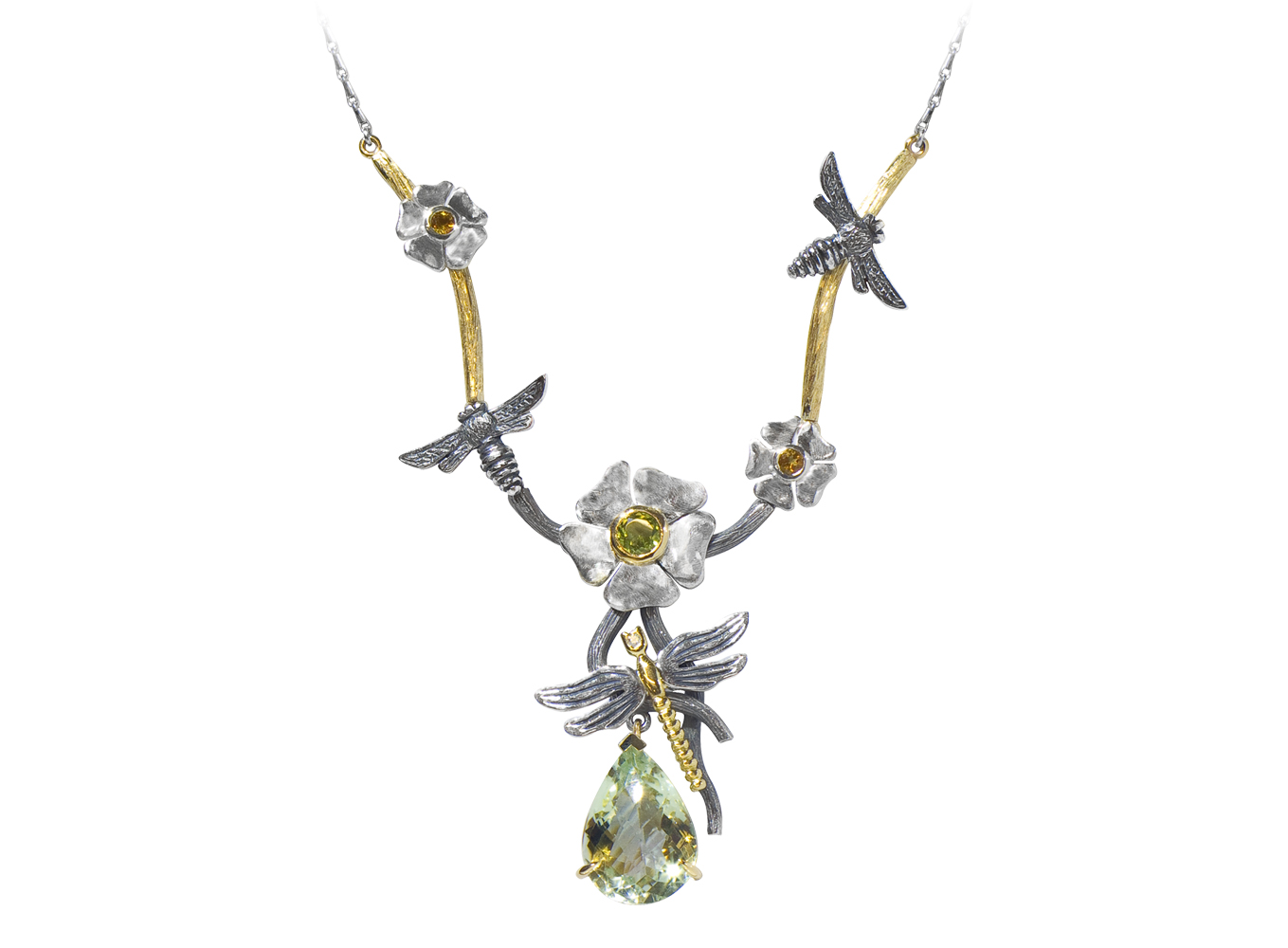 Yellow Gold, Silver,Diamond,Peridot, Citrine    Green Amethyst  £POA