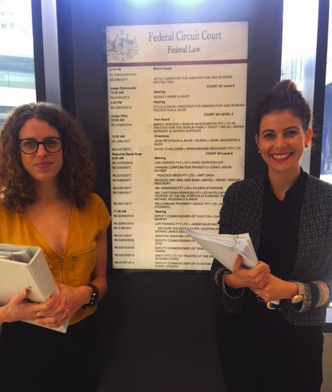 AMANDA RICHMAN (ALI) and Jordan sosnowski (AFD) at the Federal circuit court to initiate proceedings against Dolphin marine magic
