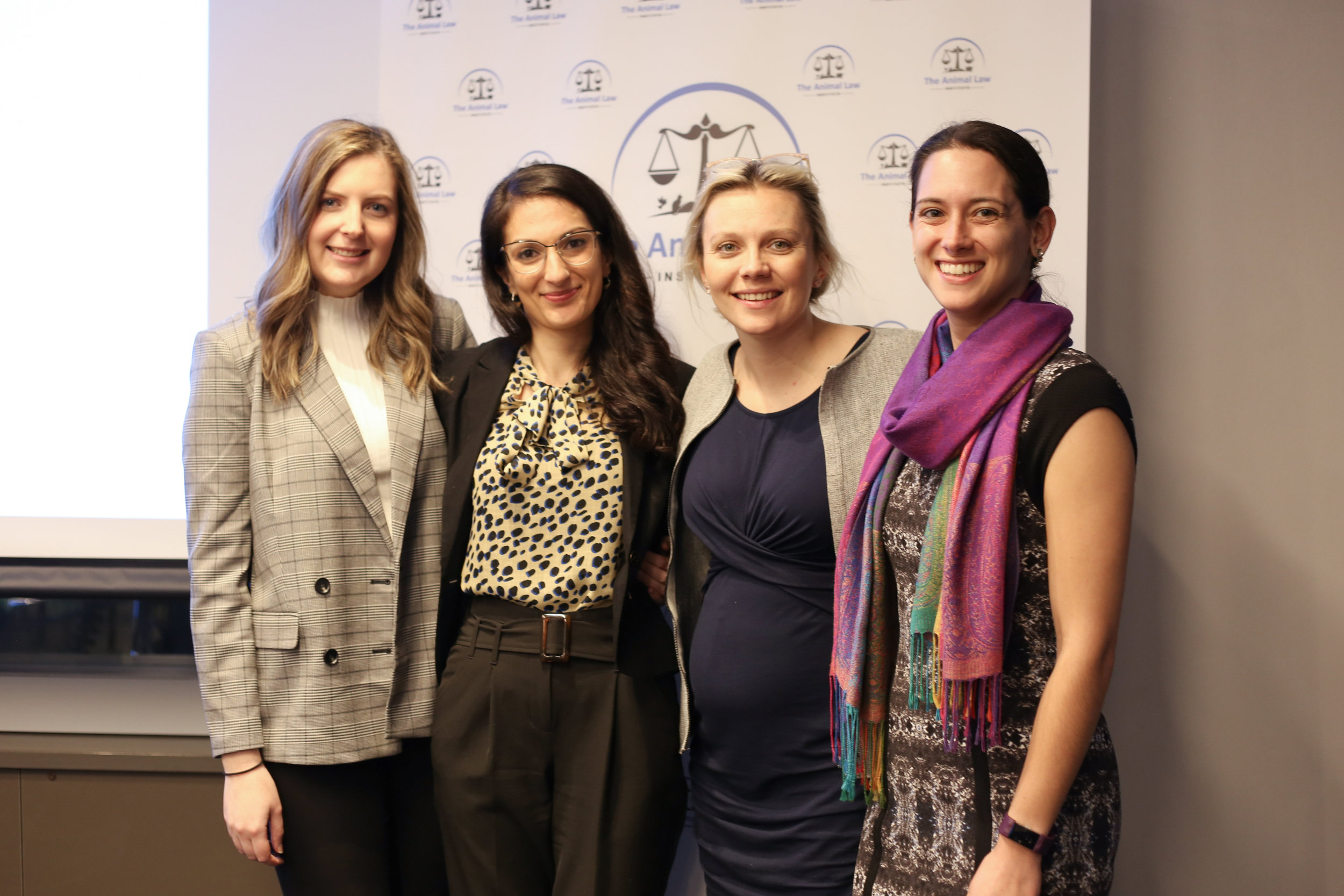 Melbourne volunteer lawyers Greta Walters, Avishan Bird, Anastasia Smietanka and Louise McNeil